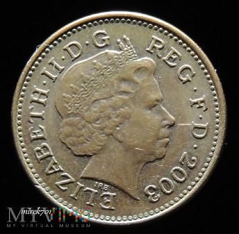 1 Pens 2003 Elizabeth II One Penny
