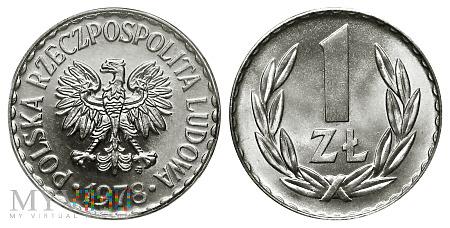 Duże zdjęcie 1 złoty, 1978, (zzm)