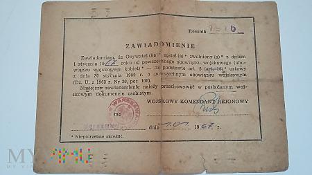 Zawiadomienie Kazimierz Nosek