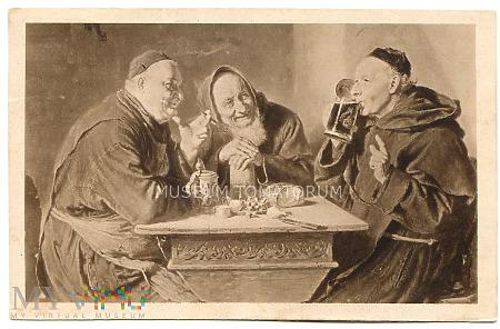 Monk Friar Mönch capucin zakonnik - miłe chwile