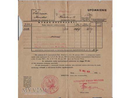 Upomnienie-Wasilków 1939.