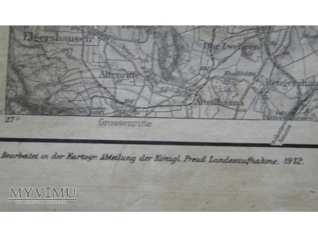 Mapa Hann Munden 1912