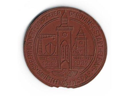 Duże zdjęcie Medal pamiątkowy z okazji 700-lecia Elbląga