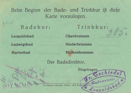 Kurkarte - Bad Flinsberg