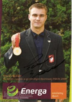 Autograf od Leszka Blanika