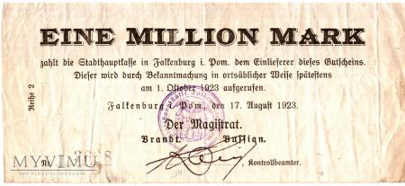 Falkenburg 1 mln mk 17.8.1923 r.
