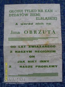 Kandydat PZPR do sejmu-1989r.