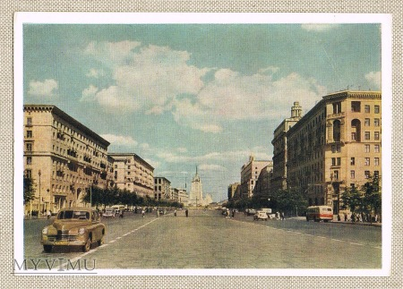 1956 Moskwa Moskiewska ulica