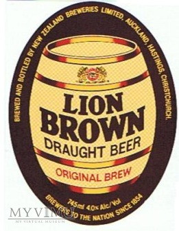 lion breweries - lion brown draught beer