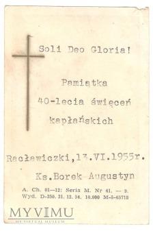 40-lecie święceń kapłańskich, Augustyn Borek