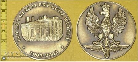 Medal kolejowy stacji Łódź Widzew