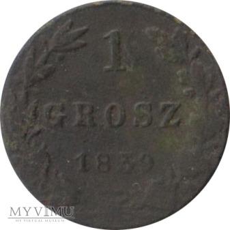 1 grosz 1839 rok skrętka