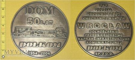 Medal kolejowy - firmowy Dolkom Wrocław