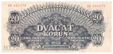 Duże zdjęcie Czechosłowacja - 20 koron (1944)