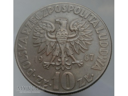 Mikołaj Kopernik, 10 zł, 1967 rok.