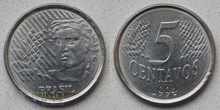 Brazylia, 5 centavos 1994