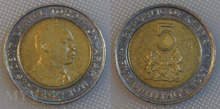 Kenia, 5 Shillings 1997