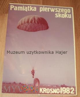 Pamiątka pierwszego skoku Krosno 1982 rok