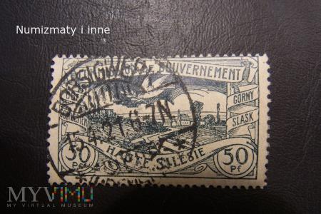 śląskie znaczki plebiscytowe za 50 fenigów