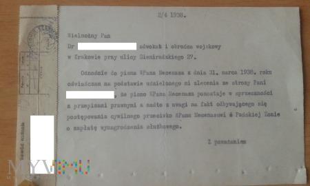Przedwojenny dokument z Prądnika Czerwonego 2