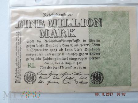 Eine Million Mark 1923r.