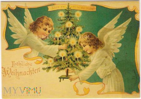 Wesołych Świąt 1900 rok - reprint