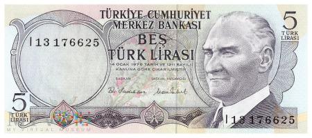 Turcja - 5 lir (1970)