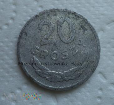 1968 rok - 20 groszy - aluminium - PRL