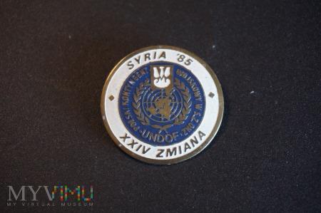 Pamiątkowa Odznaka PKW - Syria 85 -XXIV Zmiana