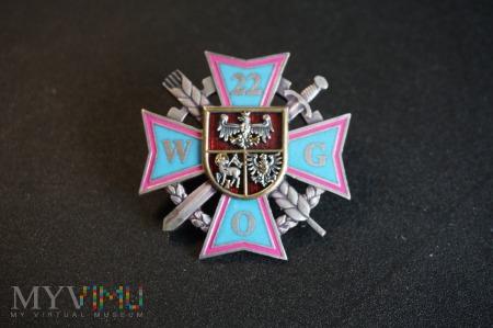 Pamiątkowa odznaka 22 WOG - Olsztyn