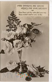 Pocztówka urodzinowa - 1920/30