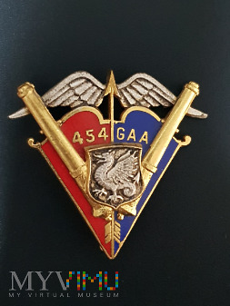 Odznaka 454 Grupy Artylerii Przeciwlotniczej