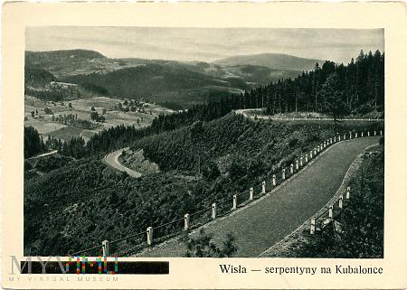 Beskid Śląski - Wisła, serpentyny na Kubalonce