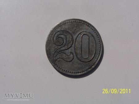 MONETA ZASTĘPCZA -EMMAGRUBE -20 fenigów