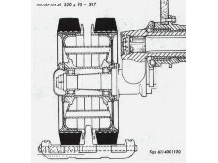 Koło od Pzkpfw III/Stug III - Continental