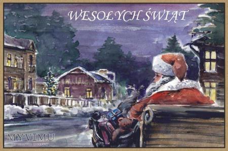 Mikołaj prezenty sanie ulica Otwock