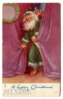 Święty Mikołaj na Zielono Raphael Tuck & Sons