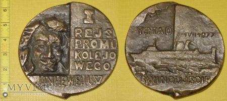 Medal kolejowy - przewozowy promu kolejowego