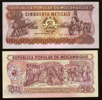 Mozambique - P 129 - 50 Meticais - 1986