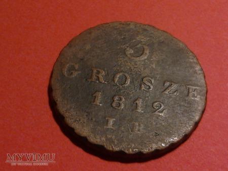 3 grosze księstwo warszawskie 1812 IB.