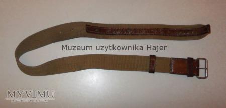 Stary wojskowy pas parciano-skórzany żolnierza LWP