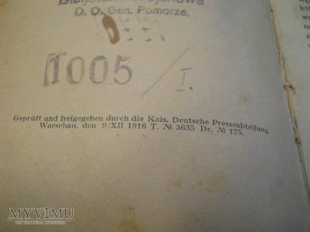 Książka z Biblioteki Oficerskiej 20pp
