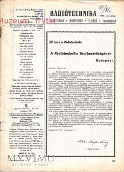 RADIO TECHNIKA 1981r. nr.11