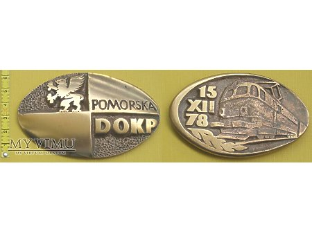 Duże zdjęcie Medal kolejowy Pomorskiej DOKP