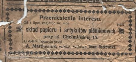"Duże zdjęcie 08 ""Gazeta Toruńska - Codzienna"" lipiec 1914"