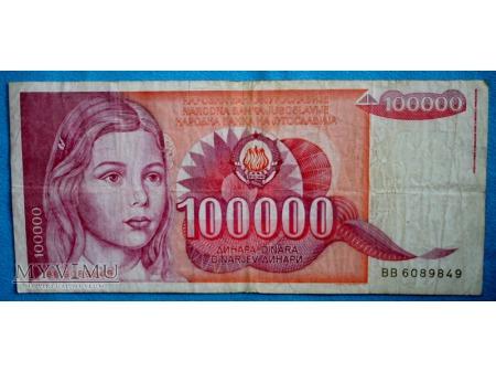 100.000 Dinarów 1989