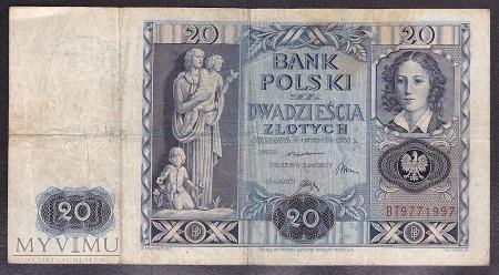 20 zł 1936r. Ser. BT
