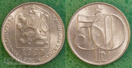 Czechosłowacja, 50 Haléřů 1990