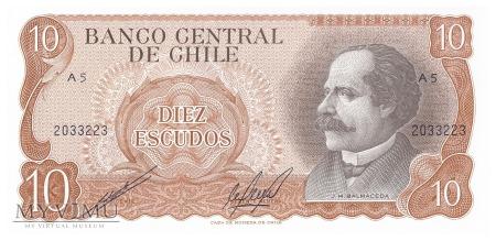 Chile - 10 escudo (1976)