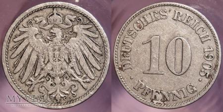 Niemcy, 1905, 10 PFENNIG